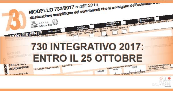 Modello 730 integrativo 2017 for Rimborso 730 non arrivato