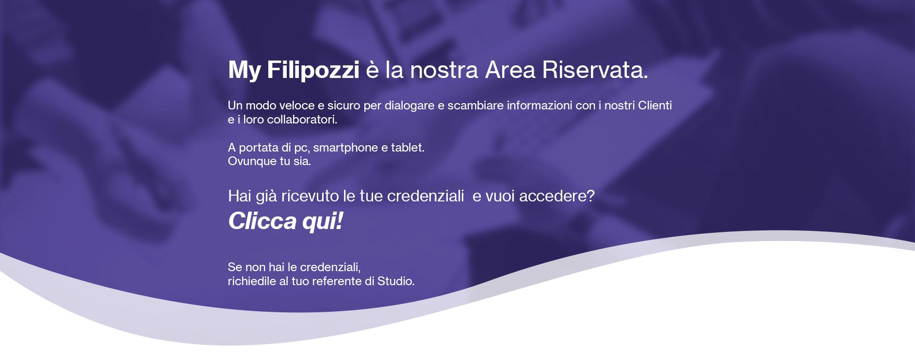 My Filipozzi - Area Riservata